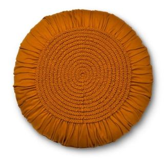 target_gold_round_pillow